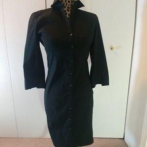 """Express Design Studio"" Black Shirt Dress"